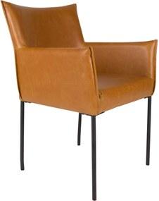 Vergaderstoel Dion - Set van 2 stoelen - Cognac