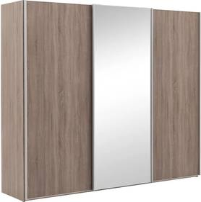 Goossens Kledingkast Verto, 250 cm breed, 217 cm hoog, 2x schuifdeur en 1x spiegelschuifdeur midden