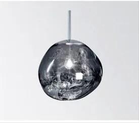 Njoy Hanglamp glas chrome met E27 fitting 20cm IP20 met 4W lamp transparant SD-2040-03