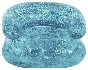 Opblaasbare kinderstoel glitter - blauw
