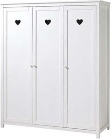 Vipack 3-deurs kledingkast Amori - wit - 190x159x57 cm - Leen Bakker