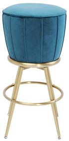 Kare Design After Work Barkruk Fluweel Blauw