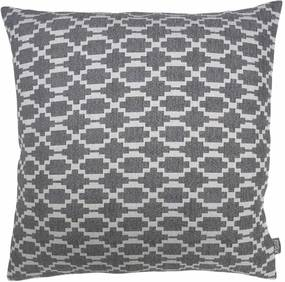 Kussen grijs patroon, Lindy Met binnenkussen 50 x 50 cm