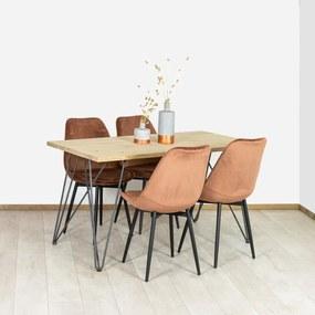 Eikenhouten tafel Norco met industriele poten