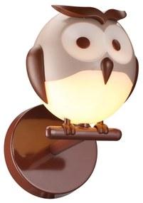 Wandlamp voor kinderen 1xG9/6W/230V uil