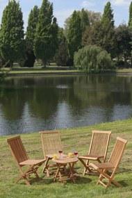 Cozy Tuinset | Tuin klaptafel + 4 vouwstoelen