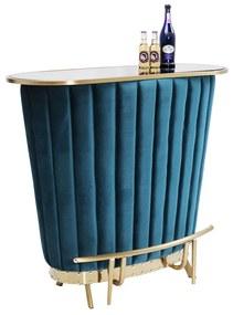 Kare Design After Work Huisbar Fluweel Blauw - 120 X 48cm.