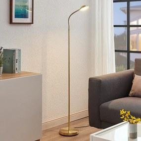 LED leeslamp Giacomo met flexibele arm, messing - lampen-24