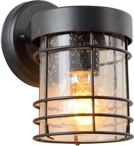 Lucide wandlamp buiten KEPPEL IP23 - zwart - 12x15,2x18,6 cm - Leen Bakker