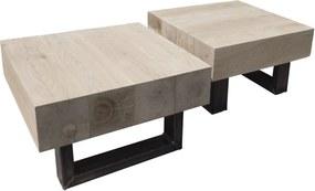 Eikenhouten salontafel Jean