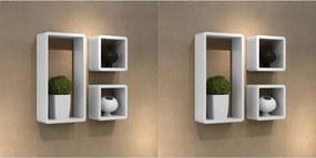 Wandplanken kubus 6 st wit