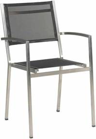Plaza stackable chair Black