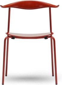 Carl Hansen & Son CH88T Powdercoated stoel Red Brown