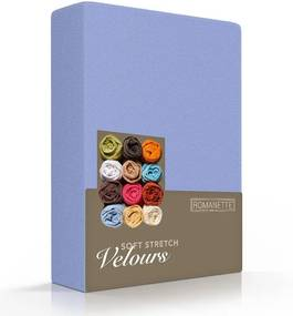 Romanette Luxe Hoeslaken Velours - Lavendel 140/160 x 200/220