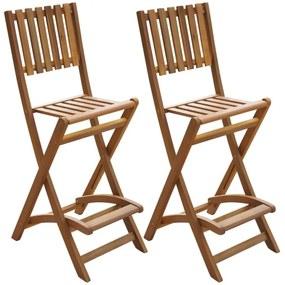 Barstoelen voor buiten inklapbaar acaciahout 2 st