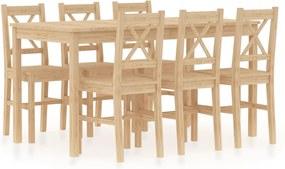 7-delige Eethoek grenenhout