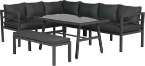 Garden Impressions Blakes lounge dining set 4-delig - donker grijs