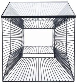Kare Design Dimension Vierkante Bijzettafel Staaldraad - 46 X 46cm.