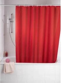 Wenko Douchegordijn polyester 180x200cm 100% polyester met anti schimmel behandeling rood 20037100
