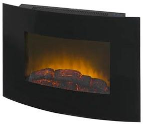 Eurom Siena Sfeerhaard Wand 1800watt Metaal Glas Zwart 363210
