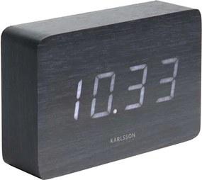 Karlsson alarmklok Square black - wit LED - Leen Bakker