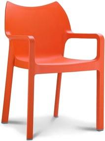 Designstoel Monaco - Oranje