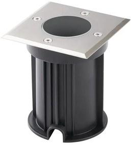 Grondspot Vierkant, Tuinverlichting, GU10 Fitting, Waterdicht IP67, RVS