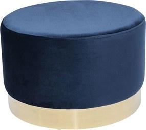 Kare Design Cherry Ronde Poef Fluweel Blauw