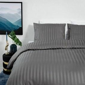 Dekbed-Discounter Satin Stripes - Grijs 2-persoons (200 x 200/220 cm + 2 kussenslopen) Dekbedovertrek
