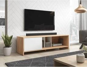 TV Meubel Wit & Eiken Wotan - 140 cm