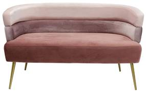 Kare Design Sandwich Fluwelen Design Bankje Roze