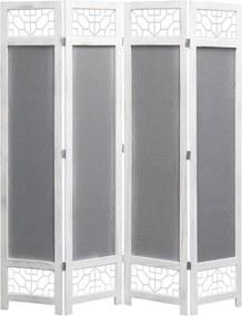 Kamerscherm met 4 panelen 140x165 cm stof grijs