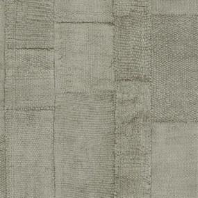 Rivièra Maison - RM Wallpaper Rustic Rough Linen olive - Kleur: groen