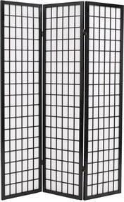 Kamerscherm inklapbaar Japanse stijl 120x170 cm zwart