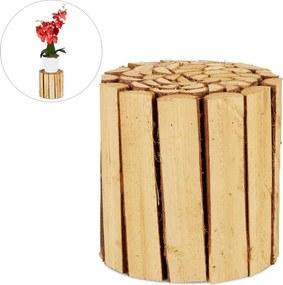Plantenkruk hout - plantentafel - plantenstandaard - bloempot houder - rond