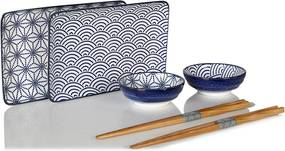 Tokyo Design Studio Nippon Blue sushi serviesset 6-delig
