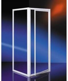 Plieger Class douchecabine vierkant met draaideur 3mm glas 90x90cm wit