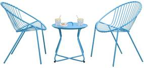 Tuinset Salvador Boa Vista - blauw - 3-delig - Leen Bakker