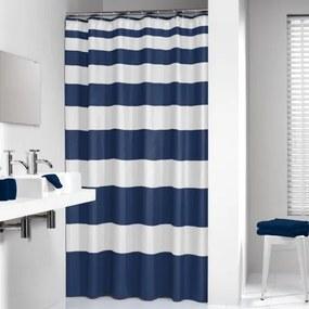 Douchegordijn Textiel Sealskin Nautica Polyester Blauw 180x200cm