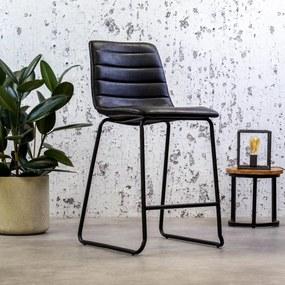 Dimehouse   Barkruk Mark breedte 49 cm x diepte 54 cm x hoogte 100 cm zwart barkrukken pu, kunstleer meubels poefs & krukken   NADUVI outlet