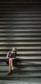 Wandkraft | Wanddecoratie A City Life breedte 48 cm x hoogte 98 cm multicolour decoratieve wandobjecten dibond decoratie | NADUVI outlet