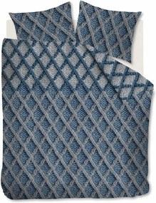 Beddinghouse | Dekbedovertrekset Ivar tweepersoons: breedte 200 cm x lengte 200/220 cm + blauw dekbedovertreksets flanel | NADUVI outlet