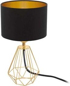 EGLO tafellamp Carlton 2 - zwart/goud - Leen Bakker