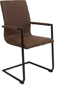 Viverne | Eetkamerstoel Delta breedte 51 cm x diepte 42 cm x hoogte 97 cm bruin eetkamerstoelen kunststof, metaal meubels | NADUVI outlet