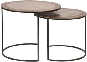Label51 Salontafel Circle - Set van 2 55 cm - Metaal - Label51 - Industrieel & robuust