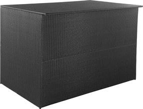 Tuinbox 150x100x100 cm poly rattan zwart