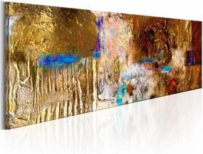 Schilderij - Golden Structure , goud look