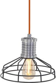 Anne Hanglamp Wire-O Oranje Zwart - Anne - Industrieel & robuust