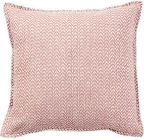 Kussen lamswol Chevron: roze, nude Met binnenkussen 45 x 45 cm