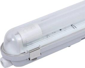 LED TL Armatuur IP65 120 cm RVS Clips Koppelbaar enkelvoudige uitvoering